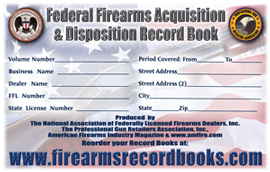 Oversized ATF Compliant<br />Firearms Record Book